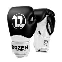 Боксерские перчатки Dozen Dual Impact Training Boxing Gloves Black/White 12 Oz