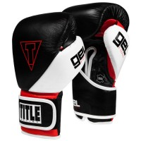 Боксерские Перчатки TITLE GEL E-Series Training Sparring Gloves - Black/Red 16 Oz