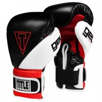 Боксерские Перчатки TITLE GEL E-Series Training Sparring Gloves - Black/Red/White 14 Oz
